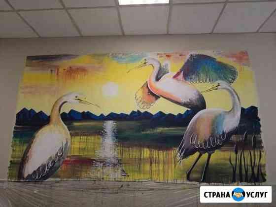 Художественная роспись стен Новосибирск