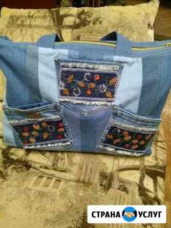 Сумки на заказ из джинсы Тольятти