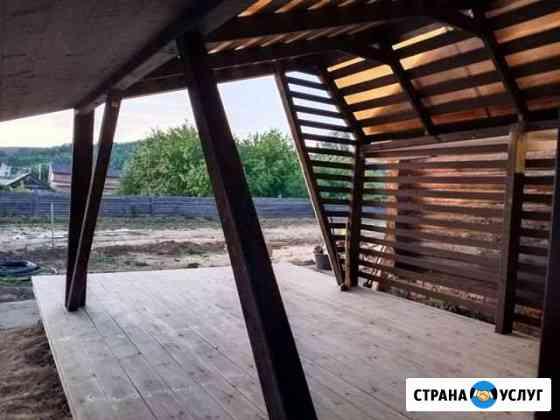 Беседка, пристрой, веранда, баня плотники Волжск