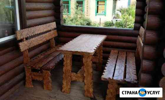 Столы, лавки из натурального дерева для дачи,бани Новосибирск