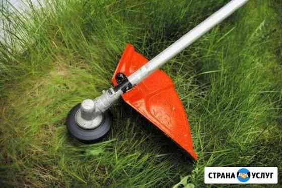 Покос травы в городе и за его пределами Коркино