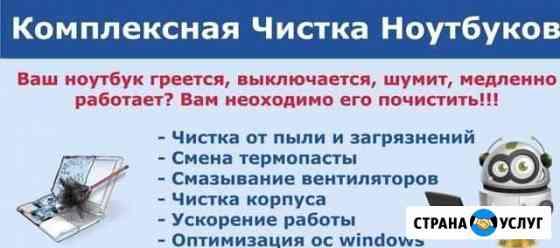 Чистка компьютеров ноутбуков Юрьев-Польский