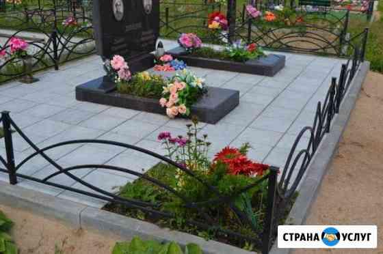 Благоустройство могил тротуарной плиткой Тамбов