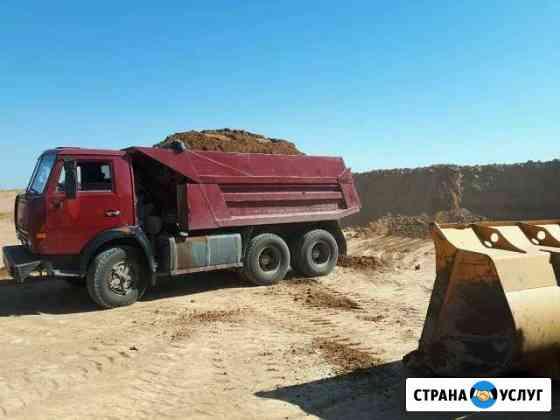 Доставка песка, щебня, глины, суглинок, барханник Астрахань