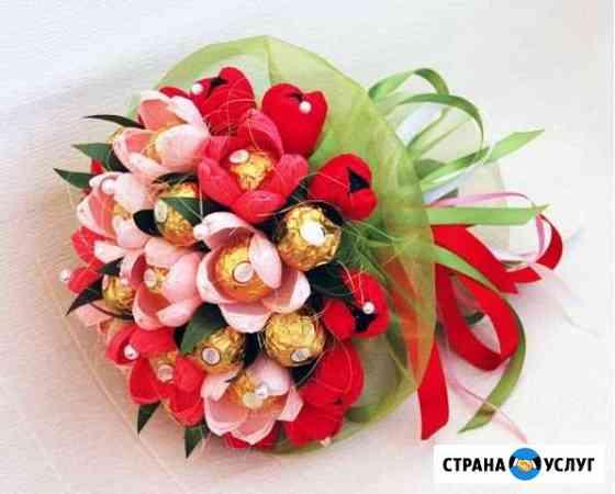 Букеты и оформление подарков из конфет Севастополь