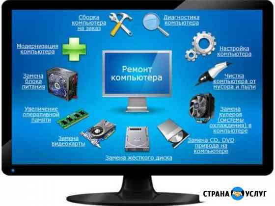 Настройка и ремонт компьютеров, ноутбуков Нерюнгри