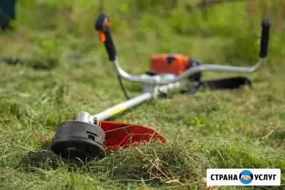 Скошу траву триммером Баган