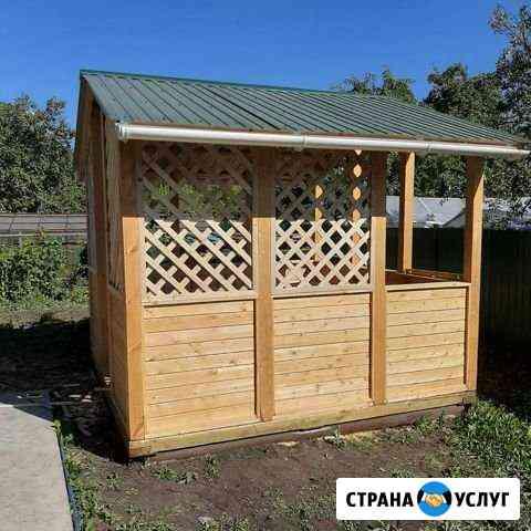 Строительство беседок, покрытие крыши Челябинск