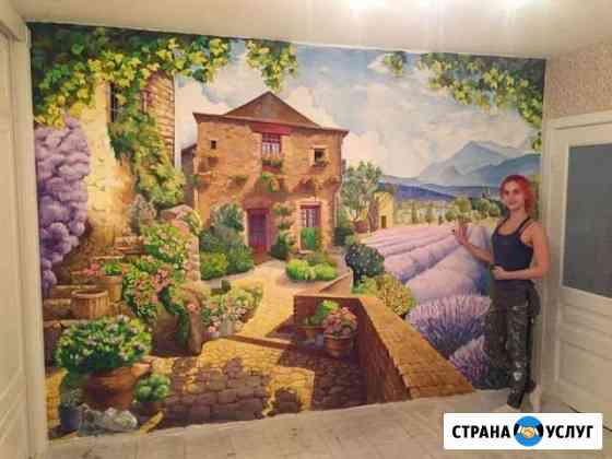 Роспись стен. Художественное оформление интерьера Екатеринбург