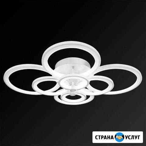 Приобрету и установлю светодиодные люстры Ковров