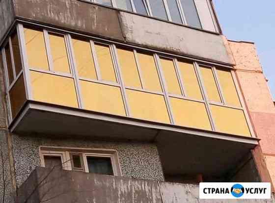 Остекление, отделка, ремонт: лоджий, окон, дверей Омск