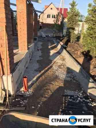 Укладка тротуарной плитки (брусчатки) Установка бо Уфа