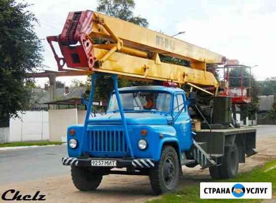Авто вышка 18 метров до 30 метров спил деревьев по Псков