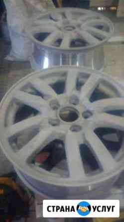Порошковая покраска дисков и металлических деталей Назарово