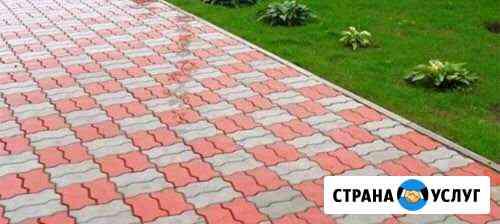 Укладка брусчатки, тротуарной плитки Тюмень