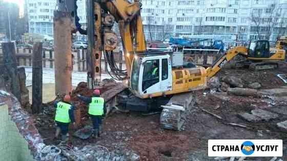 Буронабивные сваи, аренда буровой Bauer BG15H Смоленск