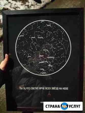 Уникальный подарок-Карта звездного неба Урюпинск