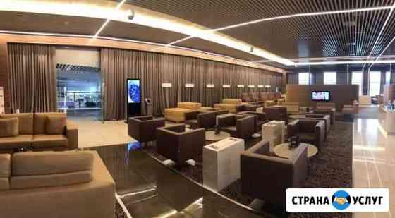 Реклама в бизнес залах аэропорта Красноярск Емельяново