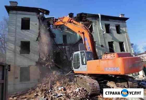 Демонтаж зданий любых сложностей, демонтаж квартир Калининград