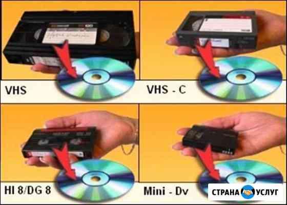 Oцифровка VHS, mini-DV, video8 Hi8 кассет, слайдoв Тюмень