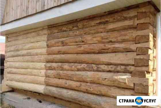 Мойка чистка срубов бань фасадов Нефтекамск