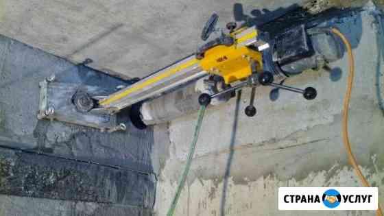 Алмазное бурение бетонных стен и перекрытий Тюмень