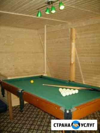 Баня на дровах с бильярдом, душ, туалет, мангал Переславль-Залесский