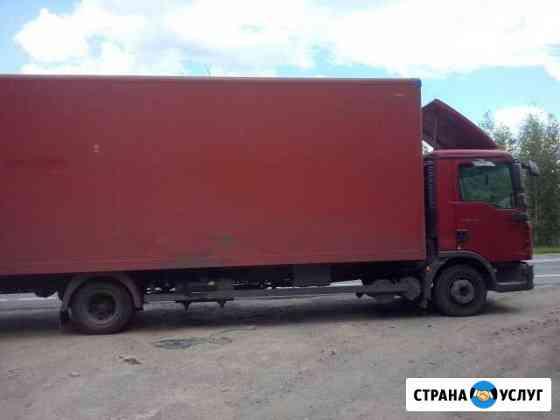 Грузоперевозки. А/м Ман 5 тонн, 43 куб. Фургон Тверь