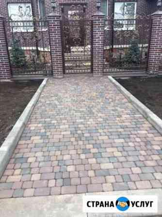 Монтаж, укладка тротуарной плитки, камня и других Нежинка