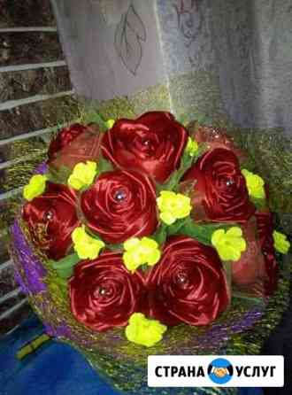 Цветы из атласной ленты Ижевск