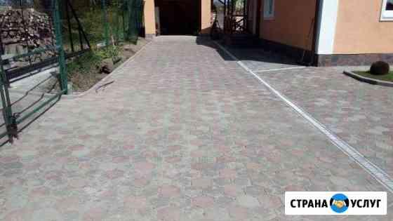 Тротуарная плитка, кабанчик, благоустройство Калининград
