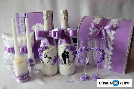 Свадебные украшения, букеты из конфет, подарки Клинцы