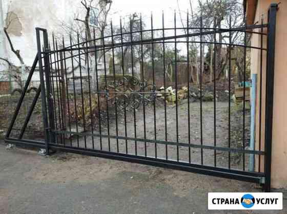 Откатные ворота с установкой заборы Калининград