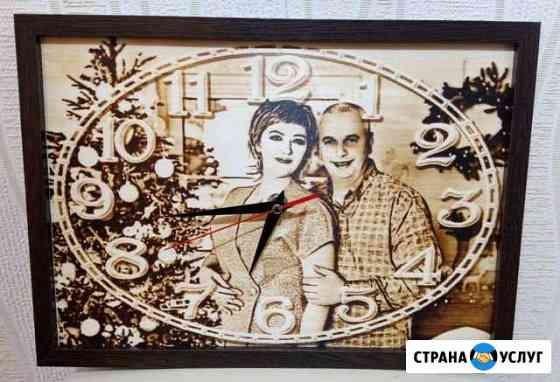 Подарки. Портреты, часы, детская метрика на дереве Красноярск