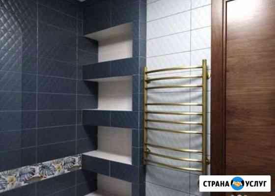 Ремонт ванная комната под ключ, Капитальный ремонт Тюмень