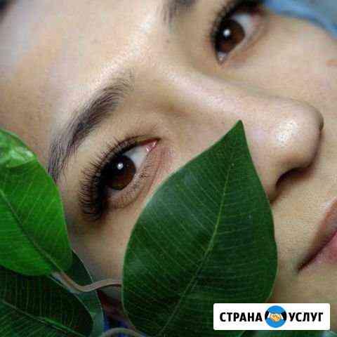 Наращивание ресниц, маникюр,гель лак Омск