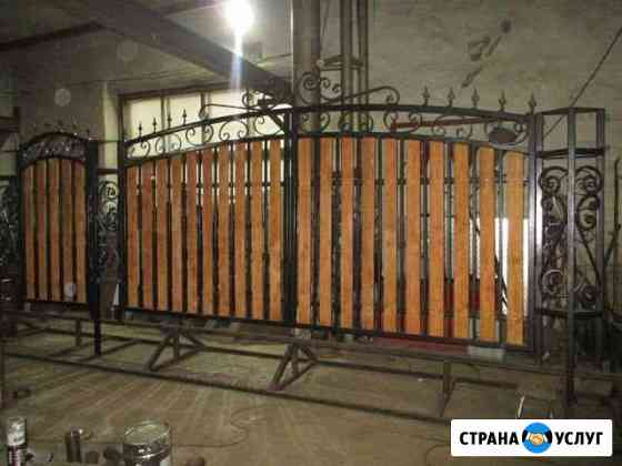 Ворота кованные Добрянка