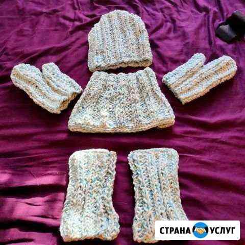 Вязание шапок, шарфов, перчаток, варежек Москва