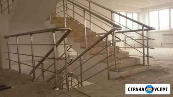 Изготовление перил из нержавеющей стали Астрахань