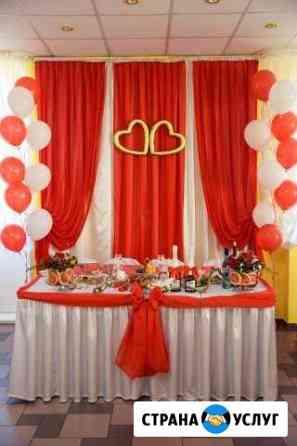 Оформление Свадеб. декор тканями и шарами Барнаул