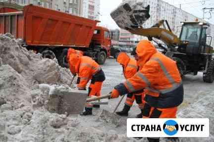 Уборка снега с крыш, с территории. Механизированная и ручная Новосибирск