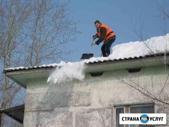 Уборка снега с крыш, удаление наледи и сосулек Самара