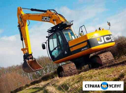 Аренда и услуги болотного гусеничного экскаватора JCB JS160 Санкт-Петербург